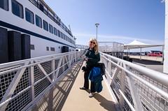 Getting off the Martha's Vineyard Ferry (m01229) Tags: ma unitedstates capecod massachusetts falmouth d7000 nikon1024mm