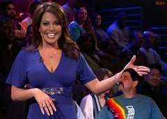 Robin Meade introduces the shrinking man at 4ft4in and 80 lbs. (iggy62pop2) Tags: people woman sexy celebrity hands breasts pretty babe upskirt tall comparison milf height giantess hln robinmeade heightcomparison shrinkingman minigiantess