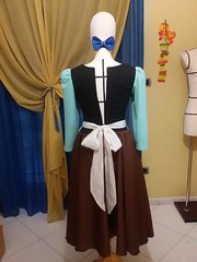 Cinderella Houseowork dress (Kisa-san Cosplay & Fun) Tags: dress cosplay housework cinderella comicon cenerentola vestito 2017