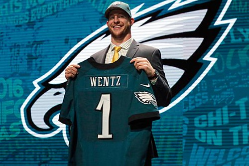 Carson Wentz drafted Number 2 overall by Philadelphia Eagles