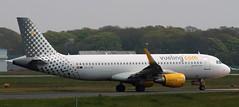 Airbus A320: 5673 EC-LVX A320-214(WL) Vueling Newcastle Airport (emdjt42) Tags: airbus a320 newcastleairport vueling eclvx