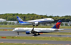 Delta Air Lines, N821DX, Boeing 757-251 at NRT (tokyo70) Tags: travel japan tour 757 deltaairlines