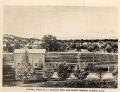 Murray Views No 15 Olympic Pool and Sports Ground, Albury, NSW (Daddys 'lil Girl) Tags: postcard australia nsw historical 1949 wagga albury riverina