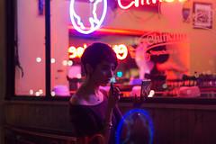lights spinning like planets (Sr Moustache) Tags: city pink winter light portrait night canon 50mm neon justride nightisyoung luisrojascontreras