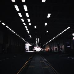 Tunnel (Olly Denton) Tags: road street uk urban london apple canon dark lights mac perspective x barbican ios vanishingpoints leadinglines digitalkiss 400d vsco vscocam vscolondon