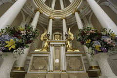 The Presence of God in the St Cecilia Motherhouse (Lawrence OP) Tags: flowers sisters gold nashville jubilee columns angels tabernacle stcecilia dominicans