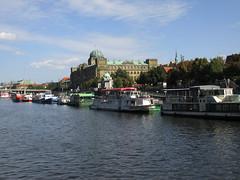 (nina.pesut) Tags: travel sky architecture clouds river boats europe prague explore czechrepublic vltava