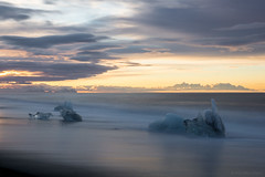 Freedom comes with timeless sleep (OR_U) Tags: ocean longexposure sea sky ice beach water clouds sunrise coast iceland glacier le icefloes oru jkulsrln 2016 uriahheep dreamon jkulsrlnglacier