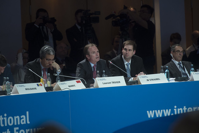 Laurent Troger makes a point during the Open Ministerial Session