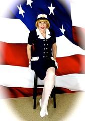 DSC07484 (msdaphnethos) Tags: transgender blonde crossdresser usmemorialday daphnethomas navalthemeoutfit