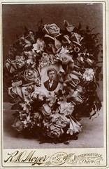 Flowers for Him, Albumen Cabinet Card, Circa 1890 (lisby1) Tags: flowers ohio roses portrait usa man loss death mourning 19thcentury victorian funeral american 1890 grief earlyphotography nineteenthcentury cabinetcard albumen jeffersonville