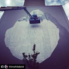 Manchester, day 3/4. #Repost @thinwhitebird with @repostapp.  Spray up high. Brand new #StreetArt happening in #Manchester as part of #CitiesOfHope #Graffiti #WorkInProgress (NEVERCREW (www.nevercrew.com)) Tags: streetart graffiti switzerland urbanart spraypaint nevercrew swissstreetart instagram ifttt instanevercrew