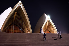 This'll make a nice backdrop (_wintermute) Tags: wedding house night high opera hand sydney iso held