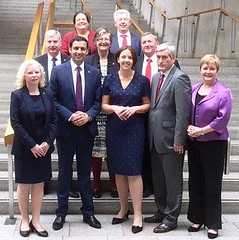 With shadow cabinet colleagues