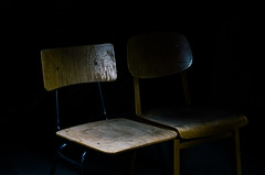 Spotlight and Obscurity (T.A.R.D.I.P.) Tags: chairs attic things decay abandoned