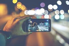 Reversed selfie (kubaszymik) Tags: night lights soap nightshot bokeh samsung galaxy bubble effect s5 selfie trioplan bokehlicious