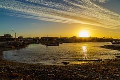 Caleta Chaaral (vichofr) Tags: chile sunset sun sol canon landscape atardecer botes mar cielo cl pacifico pescador oceano pescadores 6d caleta fiisherman