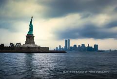 Liberty (99baggett) Tags: vacation newyork skyline worldtradecenter wtc statueofliberty 1985 manhatten