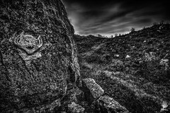 ''Beyond this point..there be?' (marcbryans) Tags: portlanddorset stone rock ethereal blackwhite carving wideangle nikond7100 tokina1116mm outdoors