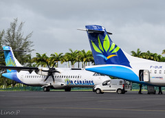 New and old (◄ Lino Spotting ►) Tags: france plane airport gate tx taxi aircraft air airbus express boeing 3s 72 42 guadeloupe antilles airplaine atr taxiway caraibes ptp atr72 atr42 fwi tffr
