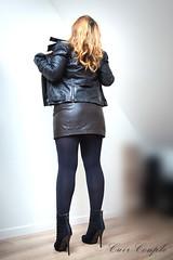 elle246 (Cuir Couple) Tags: leather bondage skirt bdsm master jacket jupe mistress veste leder matre pant pantalon cuero cuir hosen cravache maitresse martinet cuissardes