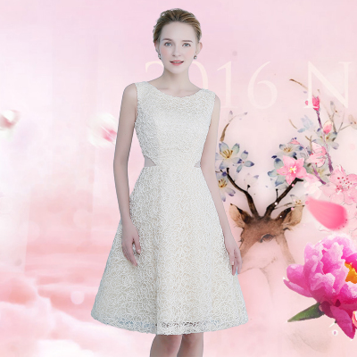 Brautjungfer Kleid dünnes Kleid Brautjungfer Kleid Champagner Empfang