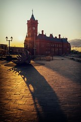 Pierhead Building, Cardiff Bay (technodean2000) Tags: uk building tower clock wales architecture night facade bay photo nikon outdoor south border cardiff pierhead lightroom d5200