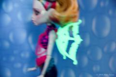 Glow in the dark wings, OOAK repaint of MonsterHigh Lagoona Blue (AnnaZu) Tags: blue monster high doll ooak makeup bjd mermaid repaint lagoona faceup monsterhigh faceupartist annaku vesnushkahandmade annazu