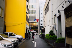 Arrow (yasu19_67) Tags: street rain japan 35mm alley atmosphere osaka arrow digitaleffects photooftheday filmlook filmlike vsco yellow vscofilm sel35f28z sonnartfe35mmf28za sony7ilce7
