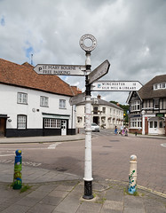 194/366 Whitchurch, Hampshire  - 366 Project 2 - 2016 (dorsetpeach) Tags: england sign hampshire signpost 365 whitchurch 2016 366 aphotoadayforayear 366project second365project