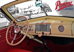 Buick Roadmaster Interior (Pomona Swap Meet) Tags: pomonafavorites pomonaswapmeet buick buickroadmaster steeringwheel dashboard classiccar rearviewmirror