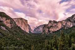 Clouds above Tunnel View (DeniseDewirePhotography) Tags: trees fall clouds yosemite granite tunnelview