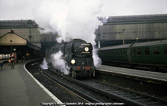 1967 - 'Battle of Britain' and a 'Nelson'.. (Robert Gadsdon) Tags: geotagged pacific nelson steam 1967 sr withdrawn waterloostation battleofbritain scrapped 34087 4cor 145squadron geo:lat=51501265609131046 geo:lon=01144316973450259