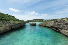 Tropical pool, Miyako-jima, Okinawa, Japan (SamKent22) Tags: travel blue summer vacation holiday pool beautiful japan rural island coast countryside rocks asia paradise cove turquoise scenic lagoon tropical remote okinawa miyako idyllic tranquil jima