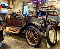 1913 Buick 25 Series (SteveMather) Tags: door ohio usa barn four wooden buick boards model rust 4 spokes rusty clarity running headlights queen clean 25 rusted oh series rims northeast find touring 4s 1913 topaz iphone 2014 acetylene clincher buttontufted discoselfstarter
