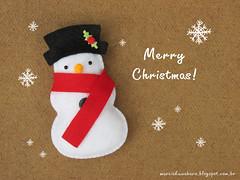 Merry Christmas!!! (M.Kuwahara) Tags: christmas natal snowman felt feltro merrychristmas marciakuwahara