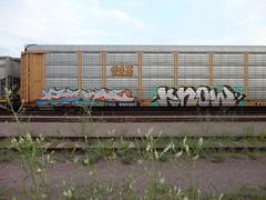 each know (derrrff!!!!!!) Tags: art train graffiti paint steel painted tags spray railcar graff aerosol railfan freight rolling fr8 benched benching