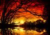 winter walk 3  -  sunset (Frank ) Tags: winter sunset sky orange lake snow holland reflection ice water boat meer europe sundown sony mf mystic kano mystique limburg enchanting frnk cannoo world100f nex5 mirroless