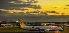 Brunei Air (Yazn Achtar) Tags: sunset england london airplane photography amazing nikon dubai heathrow aircraft aeroplane landing finals boeing approach 777 egll 788 55300vr brueni