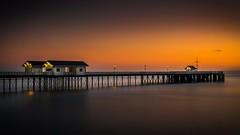 Sunrise Penarth Pier (technodean2000) Tags: light sea sun water sunrise pier nikon cardiff penarth lightroom d5300