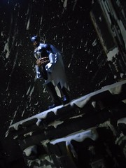 Gotham City Winter Rooftop diorama (Dark Dio Studio) Tags: city snow building film dark book comic batman joker knight gotham catwoman diorama
