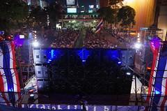 Street Protest, Bangkok (wandervox) Tags: thailand bangkok protest gr ricoh