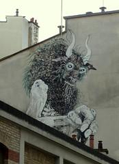 Rue Traversire - Paris 12me (ElleagMAP) Tags: streetart wall graffiti urbanart mur minotaure bonom