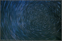 IMG_6780 Star Trails full circle  (1-18-15)(border) (davidbbernstein1) Tags: sky me night startrails guilfordmaine