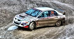 Lan Evo IX (Dag Kirin) Tags: santa mud rally evolution lancer mitsubishi gravel domenica