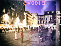 koyaanisqatsi. (the curious elf.) Tags: street motion blur night florence fujifilm koyaanisqatsi philipglass lifeoutofbalance songandphotography