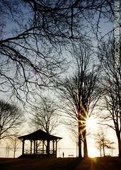 Bandstand Sunrise Portrait (Jamie Hedworth) Tags: ontario canada sunrise sunburst lakeontario oakville jamiehedworthphotography