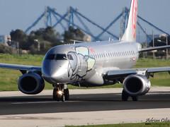 Niki --- Embraer ERJ-190-100LR --- OE-IHA (Drinu C) Tags: plane aircraft sony niki dsc embraer mla erj190 lmml oeiha hx100v adrianciliaphotography