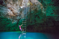 cenote ladder (Colibri Boutique Hotels) Tags: water grave underground mexico skull maya yucatan caves mayan cenote merida sacred karst sanctuary sinkholes cementery freshwater quintanaroo cenotes cavediving dzonot