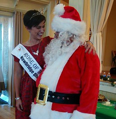 Maria Walsh and Santa